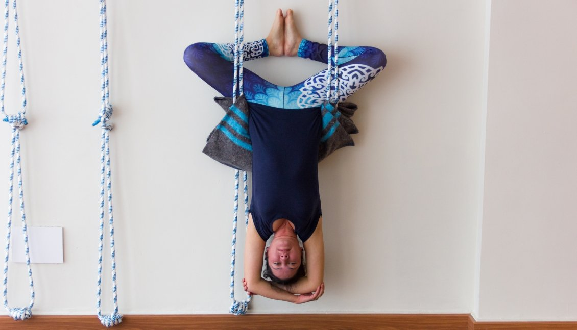 Iyengar yoga ropes