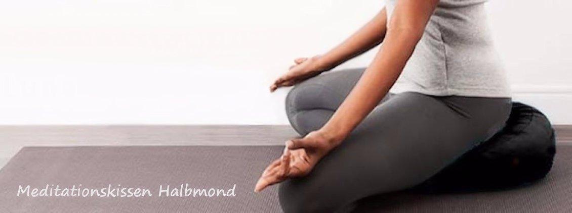Meditationskissen Halbmond