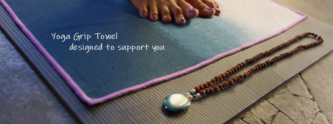 Yoga mat grip towels