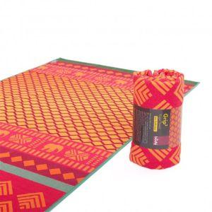 Yogamat handdoek GRIP Safari Sari