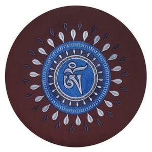 Meditatiekussen Raja Tibetan OHM notenbruin