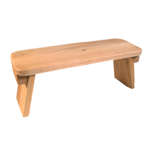 Meditatiebank van eikenhout vast model