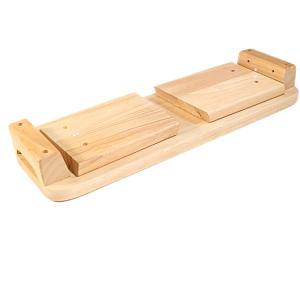 Meditatiebank van eikenhout vast model 2