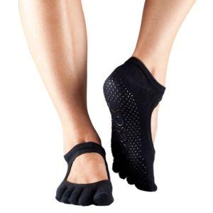 ToeSox Chaussettes de Yoga Bella noir