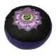 Meditatiekussen OHM Lotus paars-zwart