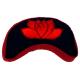 Coussin de méditation demi-lune Lotus rouge-noir