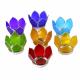 Lotus kaarshouders zilver klein set van 7