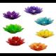 Lotus sfeerlichten SET 7 chakra's met zilveren rand